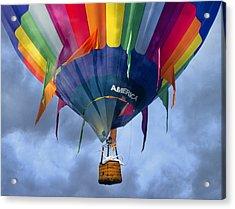 Flyin The Coop II Acrylic Print by Betsy Knapp