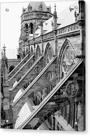 Flying Buttresses Bw Acrylic Print