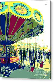 Flying Chairs Acrylic Print by Valerie Reeves