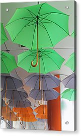 Flying Colorful Umbrellas  Acrylic Print by Diana Dimitrova