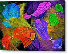 Flying Colors Acrylic Print by Gwyn Newcombe