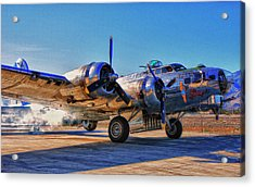 Flying Fortress Sentimental Journey Acrylic Print