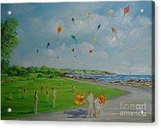 Flying Kites Newport Ri Acrylic Print