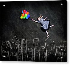 Flying On The Rooftops Acrylic Print