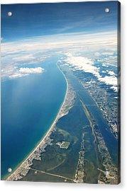 Flying Over Cocoa Beach Florida Acrylic Print