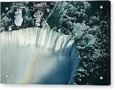 Flying Over Icy Niagara Falls Acrylic Print
