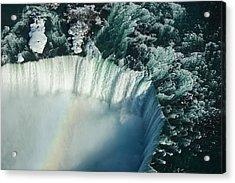 Flying Over Icy Niagara Falls Acrylic Print