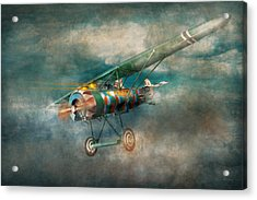 Flying Pig - Acts Of A Pig Acrylic Print by Mike Savad