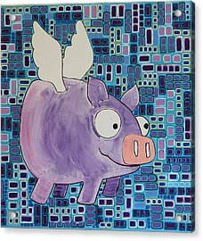 Flying Pig Acrylic Print