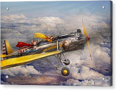 Flying Pig - Plane - The Joy Ride Acrylic Print by Mike Savad
