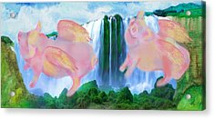 Flying Pigs Acrylic Print