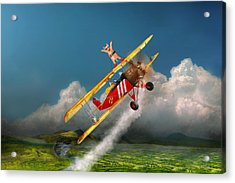 Flying Pigs - Plane - Hog Wild Acrylic Print