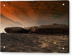 Flying Saucer Rock Acrylic Print by Jeff Swan