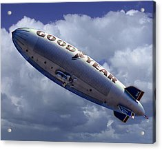 Flying The Flag Acrylic Print by Ken Evans