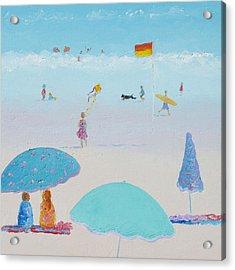 Flying The Kite - Beach Painting Acrylic Print
