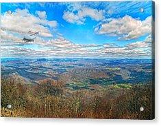 Flying The Sky Blue Ridge Parkway Acrylic Print by Betsy Knapp