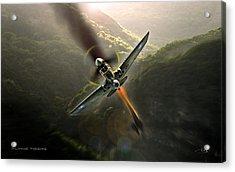 Flying Tigers Acrylic Print by Peter Van Stigt
