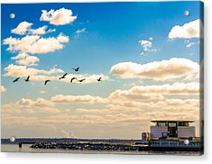 Flying To Discovery Acrylic Print