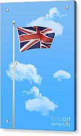 Flying Union Jack Acrylic Print by Amanda Elwell