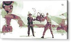 Flying Wing Battle Acrylic Print