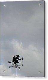 Flying Witch - Piazza Palio - Khaoyai Thailand - 01131 Acrylic Print