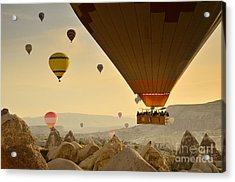 Flying With The Fairies 2 - Cappadocia Turkey Acrylic Print by OUAP Photography