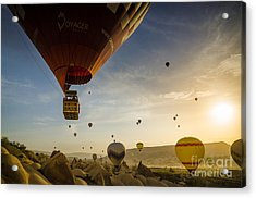 Flying With The Fairies - Cappadocia Turkey Acrylic Print by OUAP Photography