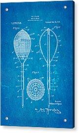 Flynn Merion Golf Club Wicker Baskets Patent Art 1916 Blueprint Acrylic Print by Ian Monk