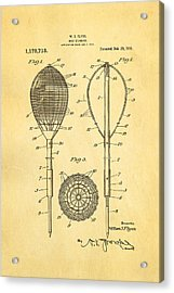 Flynn Merion Golf Club Wicker Baskets Patent Art 1916 Acrylic Print