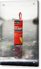 Flypaper Container Acrylic Print by Lewis Houghton/science Photo Library