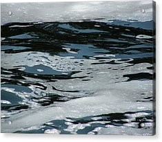 Foam On Water Acrylic Print
