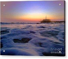 Foamy Sea Acrylic Print