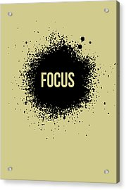 Focus Poster Grey Acrylic Print