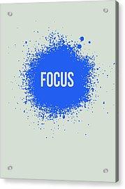 Focus Splatter Poster 1 Acrylic Print by Naxart Studio