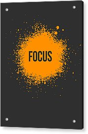 Focus Splatter Poster 3 Acrylic Print