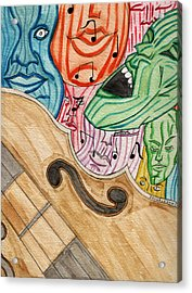 Fofm Acrylic Print by Artists With Autism Inc