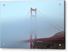 Acrylic Print featuring the photograph Fog And The Golden Gate by Jonathan Nguyen