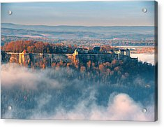 Fog Around The Fortress Koenigstein Acrylic Print