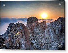Acrylic Print featuring the photograph Fog At Garvin Heights by Kari Yearous