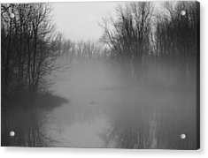 Acrylic Print featuring the photograph Fog At Mud Creek by Jim Vance