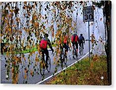 Fog Chasers Acrylic Print by Sarai Rachel