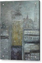 Fog Covered City Acrylic Print