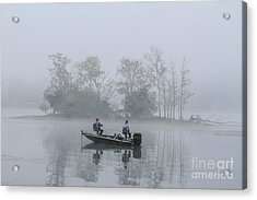 Acrylic Print featuring the photograph Fog Fishing by Geraldine DeBoer