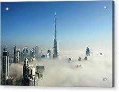 Fog In Dubai Acrylic Print by © Naufal Mq