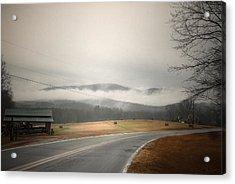 Fog In The Hollow Acrylic Print by Cindy Rubin
