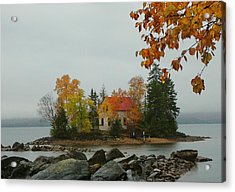 Acrylic Print featuring the photograph Fog Island by Elaine Franklin