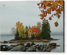 Fog Island Acrylic Print by Elaine Franklin