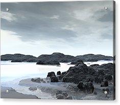Fog Acrylic Print by John Pangia