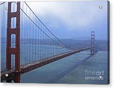 Fog Lifting Over The Golden Bridge  Acrylic Print