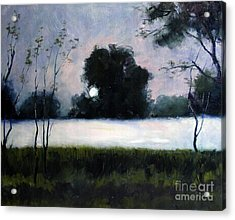 Fog Moon Acrylic Print by Charlie Spear